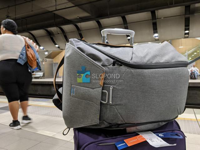 エブリデイバックパック30Lをスーツケースに乗せる